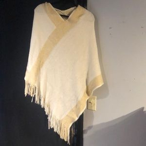 Cream and Gold Throw